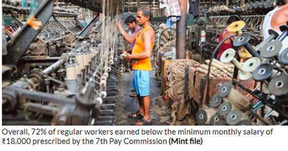 Most regular jobs in India don't pay well: PLFS